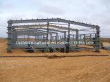 Stahlkonstruktion-Fertighaus/vorfabrizierte Gebäude verwendet als Lager/Werkstatt