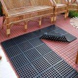 Doormats de goma reciclados recepción grabados depresión al aire libre de interior de la entrada de los orificios