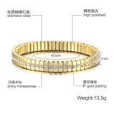 新しい方法ステンレス鋼のめっきの金のブレスレット