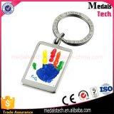 Porte-clés fait sur commande bon marché de rectangle d'impression en métal de qualité