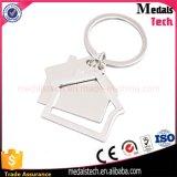 高品質の安いカスタム金属の印刷の長方形のキーホルダー