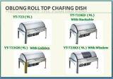 Тарелка верхней части крена оборудования кухни высокого качества продолговатая ссаживая с Stackable
