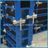 軽量の鉄骨フレームの合板の型枠