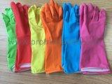 la bande du coton 55g verdissent le gant en caoutchouc de ménage avec du ce