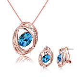 Collar y pendientes determinados de la joyería del Zircon del diseño de la manera