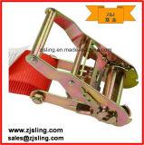 """2 """"Flat / S Hook Ratchet Strap 2"""" X 8 'Vermelho"""