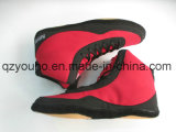 Azul Vermelho Customized Wrestling Boot PU Wrestling Men's Shoes