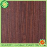 Laminação de madeira inoxidável do PVC da grão da chapa de aço do Web site de Alibaba na promoção