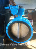 Het Gietijzer/de Kneedbare Ijzer Van een flens voorzien Vleugelklep met Versnellingsbak werkt
