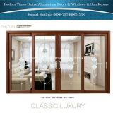 Двери нутряных дверей деревянного цвета цвета Teak алюминиевые внешние