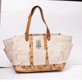 Espace durable réutilisable Bookbag de sacs d'épaule de modèle de Madame Shopping Tote Eco Travel de sac à main de poche florale neuve de messager le grand