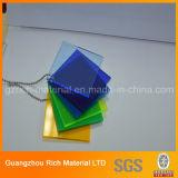 El panel de acrílico plástico/publicidad de la hoja de acrílico del plexiglás de la tarjeta PMMA del plexiglás