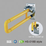 Barra de gancho agarrador de nylon plegable del tocador de la desventaja del ABS de la bañera del cuarto de baño de los accesorios del baño