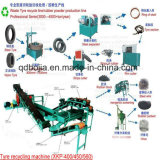 ラインか開拓されたゴム製生産機械を作る機械かゴム製粉をリサイクルする不用なタイヤ