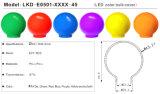 Cubierta de la cubierta de la bombilla del color del festival del LED 0.25-1W (ocho diversos colores) (fuente SKD)