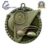 Медаль клуба заплывания, античная серебряная отделка