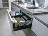 白いラッカー光沢のある食器棚(zz-009)