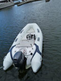 Liya 12.5ft Made in China Inflatable Motor Popular Sightseeing Small Fiberglass Rib Boat