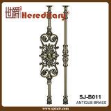屋内青銅色カラー装飾的な鋳造アルミ階段手すり(SJ-B011)