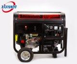generador eléctrico de la gasolina de la soldadura del comienzo del alambre de cobre de la alta calidad 5kw/kVA
