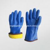 Акриловая выровнянная перчатка зимы PVC (5133)