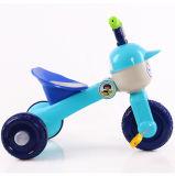 Голубой трицикл колеса младенца 3 цвета с складывая функцией