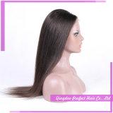 최상 100% 브라질 사람의 모발 가발 조밀도 130% 레이스 정면 가발