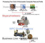 Neuf machine d'extrudeuse de technologie d'extrudeuse de PVC WPC