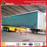 BoxヴァンType Containerカーテンの側面のトレーラー