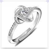 Juwelen van de Juwelen van het Kristal van de Ring van de manier de Echte Zilveren (CR0100)