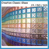 장식적인 유리제 유리벽을%s 색깔 유리 벽돌