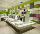 人の靴店、靴のための木のベニヤの飾り戸棚は表示キオスクを小売りする