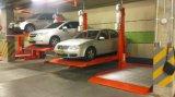 中国は駐車を停止する2台の車機械Carparksを持ち上げる