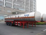 Light Diesel Oil Delivery Hzz9400gyyのための40800L SUS Fuel Tank Trailer