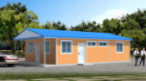 Vista interna de pré-fabricados / Prefab / Modular / Mobile House para escritórios que estão sendo usados no site do projeto
