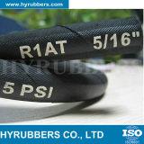 Mangueira de borracha hidráulica em excesso de alta pressão trançada R1at/1sn do fio de aço
