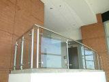 Railing/балюстрада лестницы самомоднейшей конструкции закаленные изогнутые стеклянные для Америка