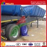액압 실린더 정면 팁 주는 사람 트레일러를 가진 두 배 2 차축 디젤 연료 유형 반 덤프 트럭 트레일러
