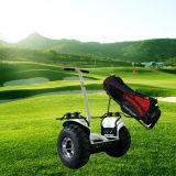"""2 rodas que estão fora do """"trotinette"""" do golfe do balanço da estrada"""