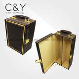Vente en gros de boîtes à emporter portables en cuir PU de luxe pour cadeau