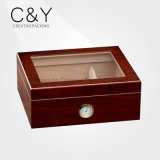 Cy Made Cedar Wooden Smoking Box pour fumée (25-50 cigares)
