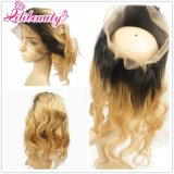 360 Lace Frontal Kinky Curly Virgin Hair 3/4 Hair Part Wig Cheveux Humains