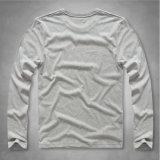 Chemise graphique de base de Knit de long pouvoir fondamental contemporain de chemise