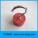 Aimant rouge en caoutchouc et au néodyme C Crochet suspendu
