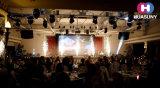 Bunte flexible LED-Vorhang-Bildschirmanzeige für Konferenz