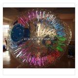 Juego popular Zorbing de iluminación inflable del deporte al aire libre
