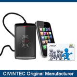 Leitor Desktop externo do USB RFID DESFire EV1 NFC com Des/3des/AES 128-Bit e ISO7816 T=0 T=1