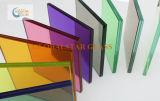 착색된 PVB 또는 명확한 플로트 유리 박판으로 만들어진 유리