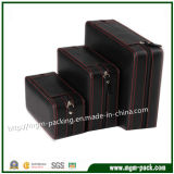 Portable Leather Packing Watch Box with Zipper