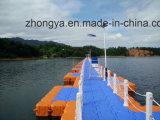 Embarcadero de flotación plástico del muelle el pontón de flotación para los barcos